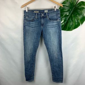 AG The Nikki Crop Relaxed Skinny Crop Sz 26 Jeans